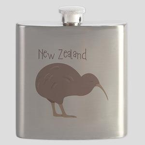 New Zealand Bird Flask