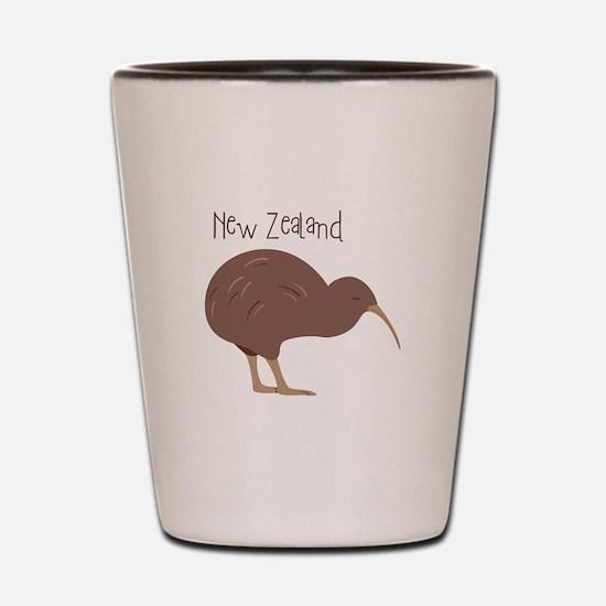 New Zealand Bird Shot Glass