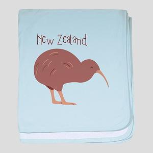 New Zealand Bird baby blanket