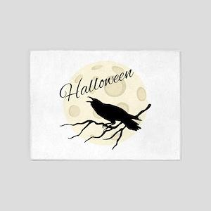 Halloween Crow 5'x7'Area Rug