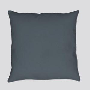 Stormy Weather Solid Color Everyday Pillow