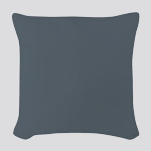 Stormy Weather Solid Color Woven Throw Pillow