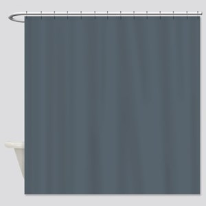 Stormy Weather Solid Color Shower Curtain