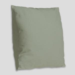 Desert Sage Solid Color Burlap Throw Pillow