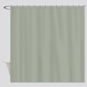 Desert Sage Solid Color Shower Curtain