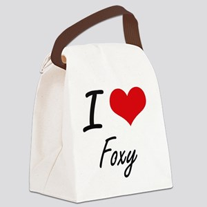 I love Foxy Canvas Lunch Bag