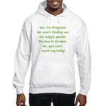 Pregnant Suprise due October Hooded Sweatshirt