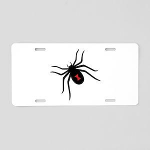 Black Widow Spider Aluminum License Plate