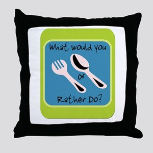 Fork or Spoon Throw Pillow