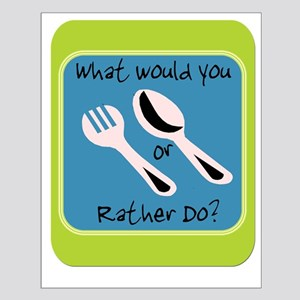 Fork or Spoon Small Poster
