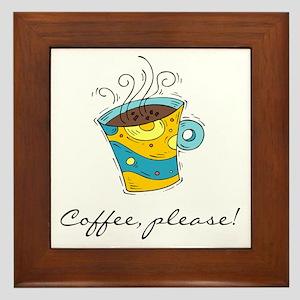 Coffee, Please Framed Tile