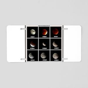 Supermoon & Eclipse Aluminum License Plate