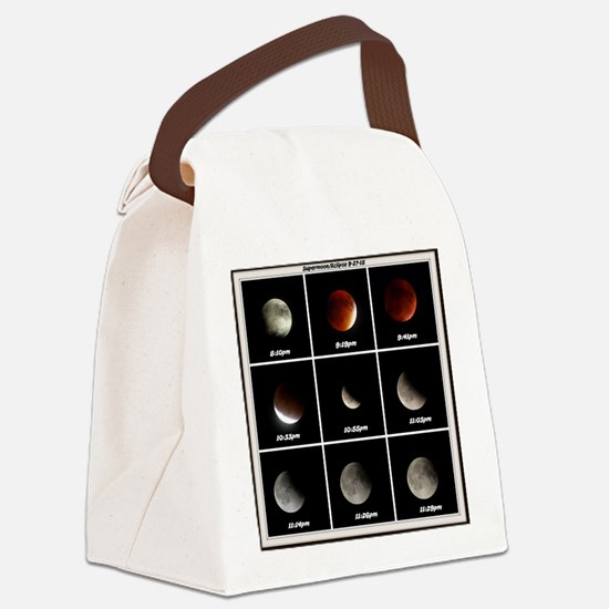 Supermoon & Eclipse Canvas Lunch Bag