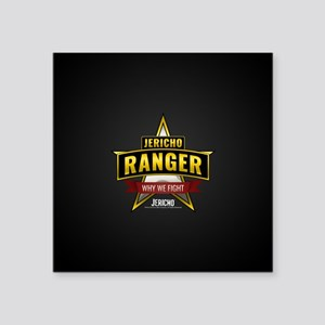"Jericho Ranger Square Sticker 3"" x 3"""