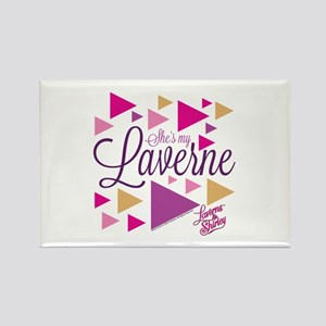 Laverne and Shirley: She's My Lav Rectangle Magnet