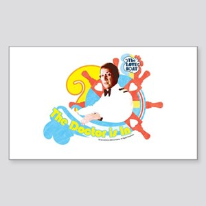 The Doctor is in Sticker (Rectangle)