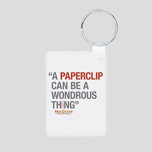 MacGyver: Paperclip Aluminum Photo Keychain