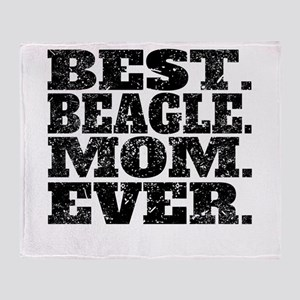 Best Beagle Mom Ever Throw Blanket