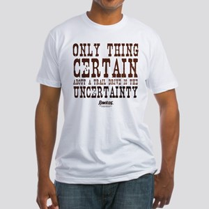 Rawhide Trail Drive Quote Fitted T-Shirt