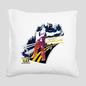 Taxi Louieland Square Canvas Pillow