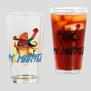 Ms. Marvel & Captain Marvel Drinking Glass