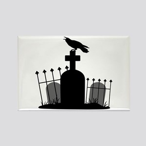 Cemetery Crow Magnets