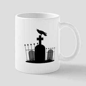 Cemetery Crow Mugs