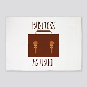 Business As Usual 5'x7'Area Rug