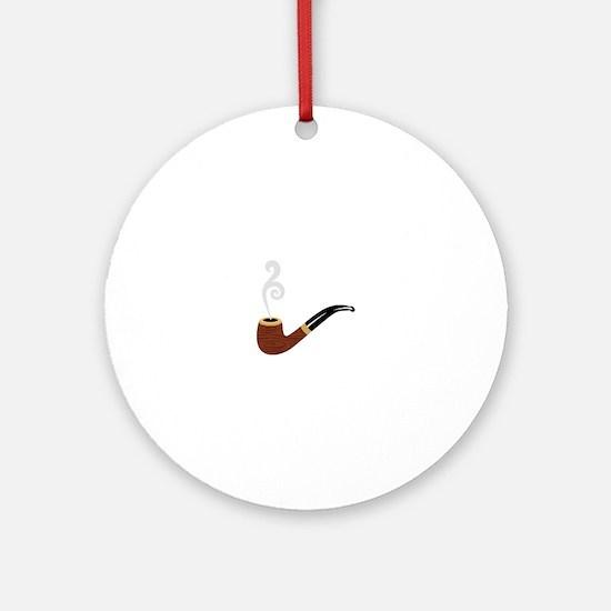 Tobacco Pipe Round Ornament