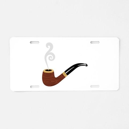 Tobacco Pipe Aluminum License Plate