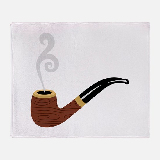 Tobacco Pipe Throw Blanket