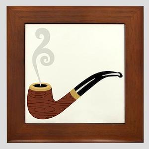 Tobacco Pipe Framed Tile