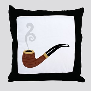 Tobacco Pipe Throw Pillow