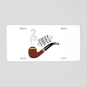 Smoking Pipe Aluminum License Plate