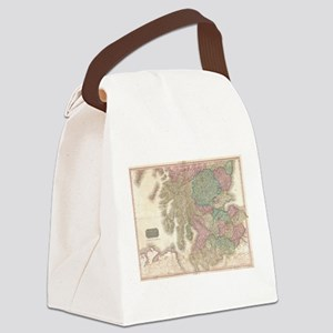 Vintage Map of Southern Scotland Canvas Lunch Bag