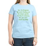 Pregnant Surprise due January Women's Light T-Shir