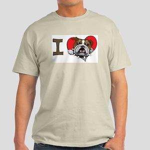 I heart bulldogs Light T-Shirt
