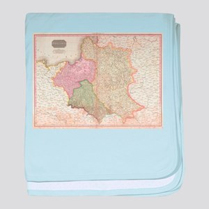 Vintage Map of Poland (1818) baby blanket