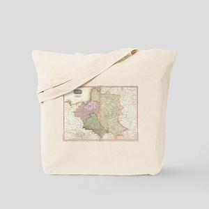 Vintage Map of Poland (1818) Tote Bag