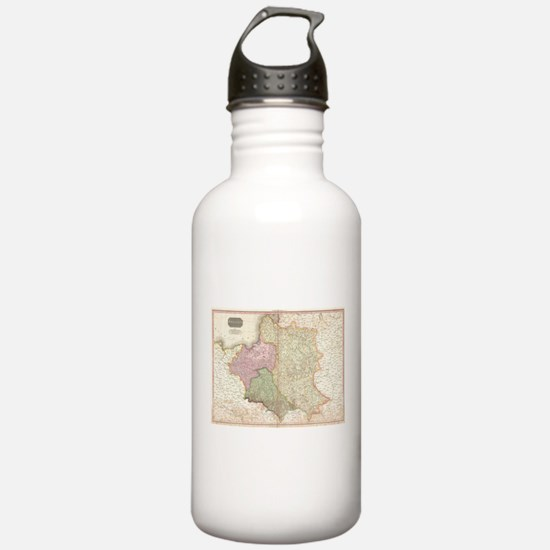 Vintage Map of Poland Water Bottle