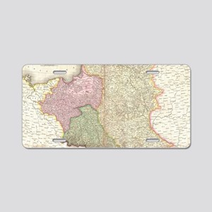 Vintage Map of Poland (1818 Aluminum License Plate