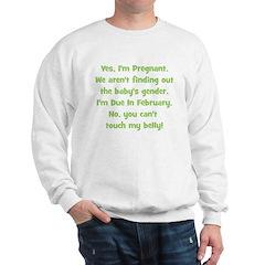 Pregnant Surprise due Februar Sweatshirt
