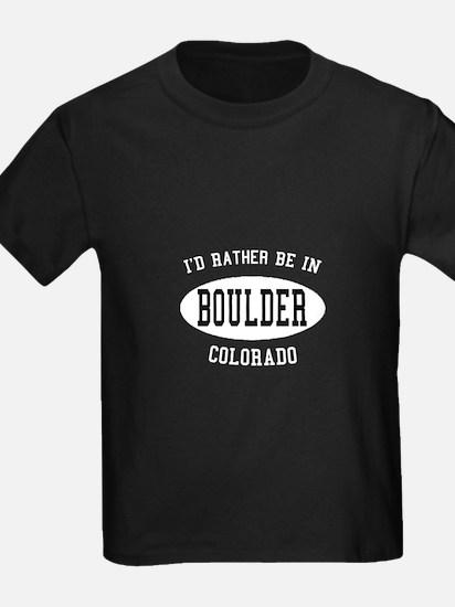 I'd Rather Be in Boulder, Col T