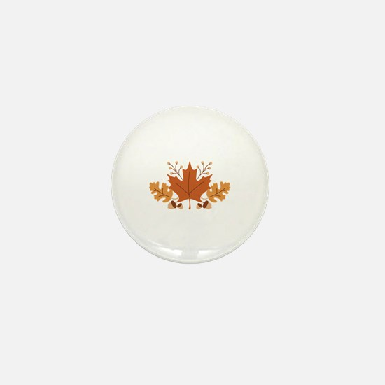 Autumn Leaves Mini Button