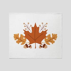 Autumn Leaves Throw Blanket