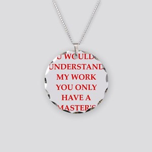 MASTERS Necklace Circle Charm
