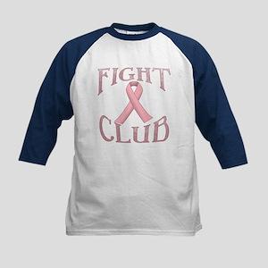 Fight Club with Pink Ribbon Kids Baseball Jersey