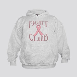 Fight Club with Pink Ribbon Kids Hoodie