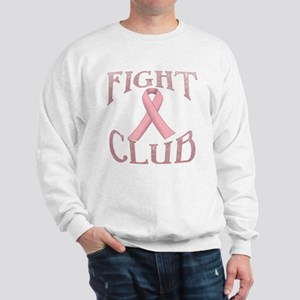 Fight Club with Pink Ribbon Sweatshirt