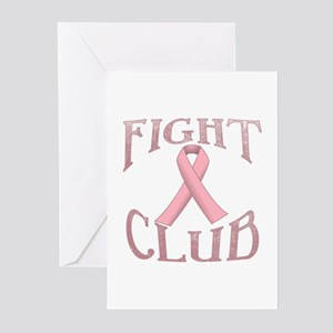 Fight Club with Pink Rib Greeting Cards (Pk of 10)